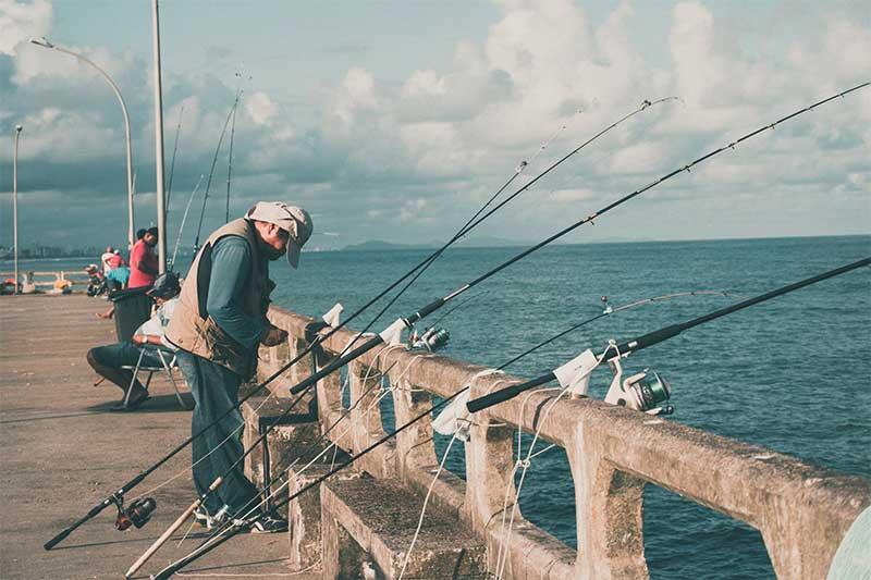 people fishing at pier